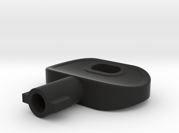 ABB-KEY in Black Natural Versatile Plastic