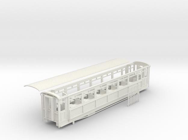 Ffestiniog Rly Superbarn all 3rd coach NO.119 in White Natural Versatile Plastic