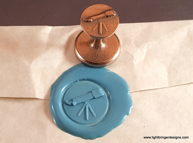 Telescope Wax Seal in Polished Bronzed Silver Steel