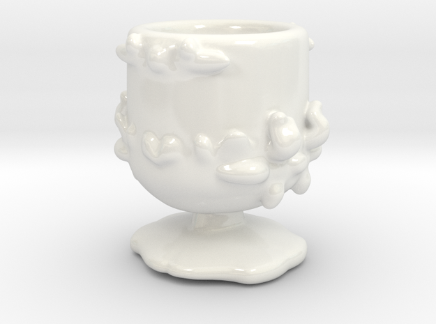 Persephone's shot cup in Gloss White Porcelain