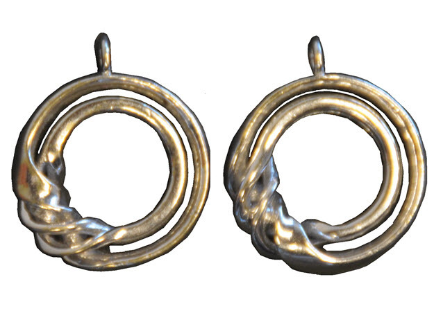 Ear-Rings-Fantasy-07 in Rhodium Plated Brass
