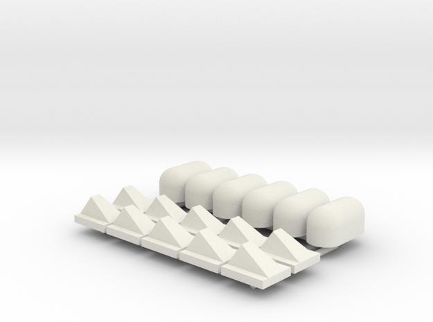 10st Schampblok en 6st Jumboblok in White Natural Versatile Plastic