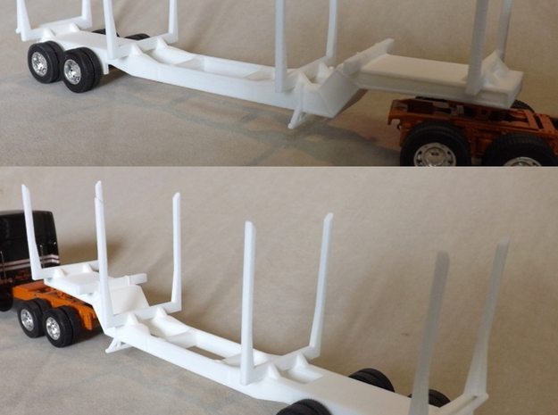 1/64th Scale 'PItts' style 6 bunk logging trailer  3d printed This is the 4 bunk 'original' version.