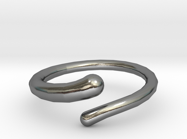 teardrop ring in Polished Silver