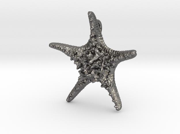 Knobby Starfish Pendant in Polished Nickel Steel