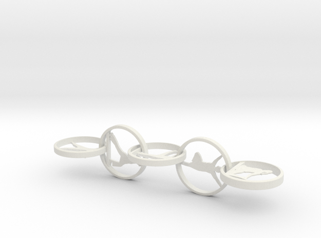 """Yoga jewelry earring 2"""" approximately. Mixed poses in White Natural Versatile Plastic"""