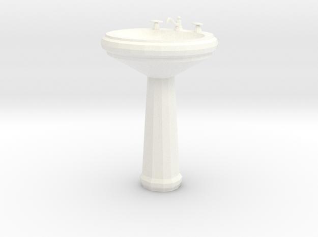 'Finer Fare' Pedestal Sink 1:12 Dollhouse