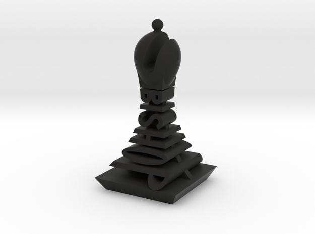 Modern Chess Set - BISHOP in Black Strong & Flexible