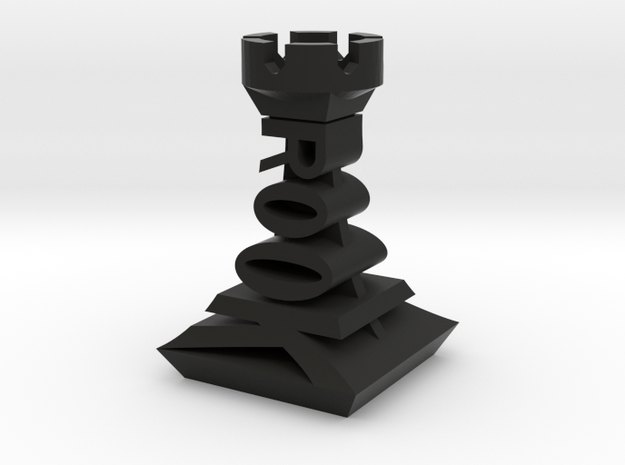 Modern Chess Set - ROOK in Black Strong & Flexible