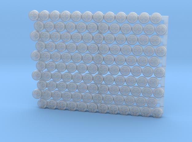 3205 - 1/32 '+' type padeyes, closed bottom, 120pc