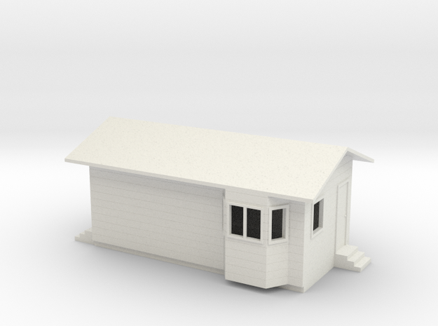1/64 Truck Scale House in White Natural Versatile Plastic