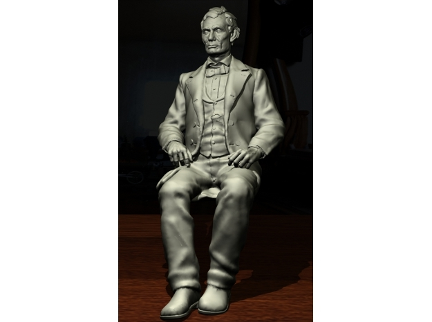 SE Young Abe Seated in Smoothest Fine Detail Plastic