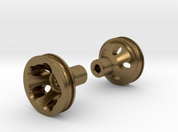 """O-Ring Style Front Wheels .50"""" (12.7mm) dia in Natural Bronze"""