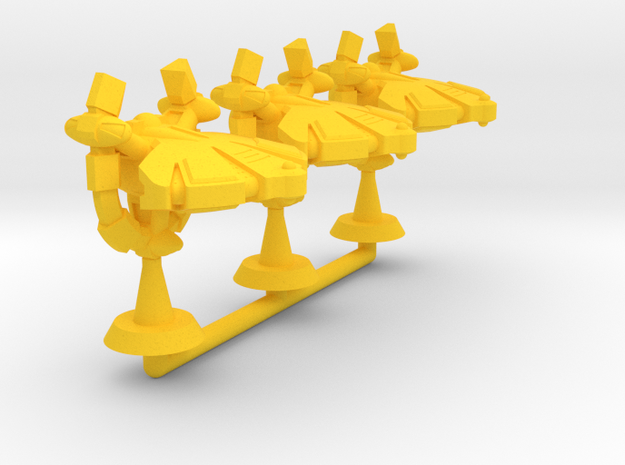 Catequil Strike Frigate - 1:20000 in Yellow Processed Versatile Plastic