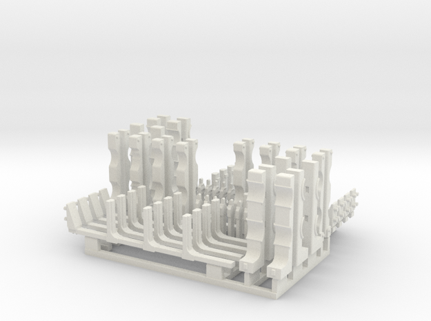 1/18 SPM-18-020-TOW-02 TOW missile containers rack in White Natural Versatile Plastic