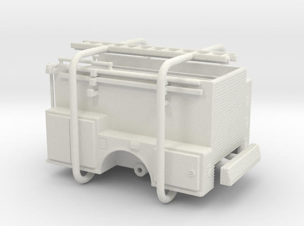 1/87 ALF Pipeline Body Compartment Doors in White Strong & Flexible