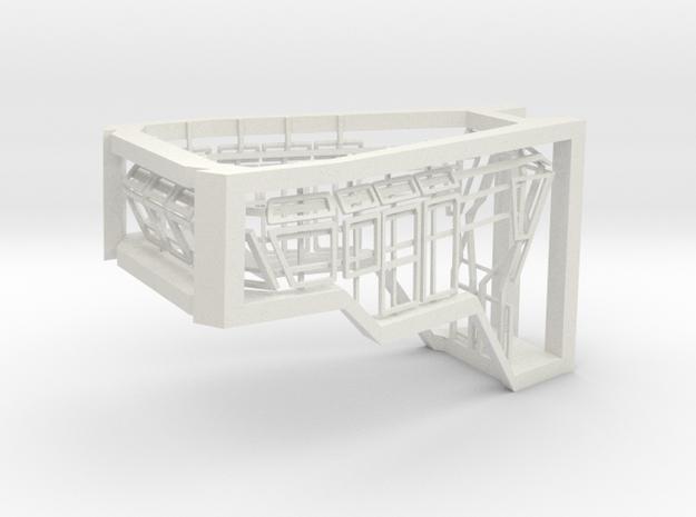 Window Frames 1/87 fit Harbor Tug Bridge  in White Natural Versatile Plastic