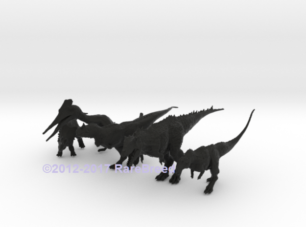 Mini Prehistoric Collection 4 in White Natural Versatile Plastic: Small
