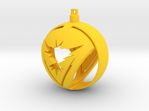 Team Instinct Christmas Ornament Ball in Yellow Processed Versatile Plastic
