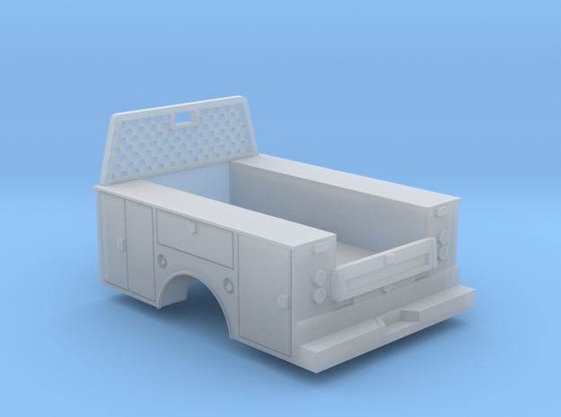 Standard Full Box Truck Bed W Cab Guard 1-64 Scale in Smooth Fine Detail Plastic