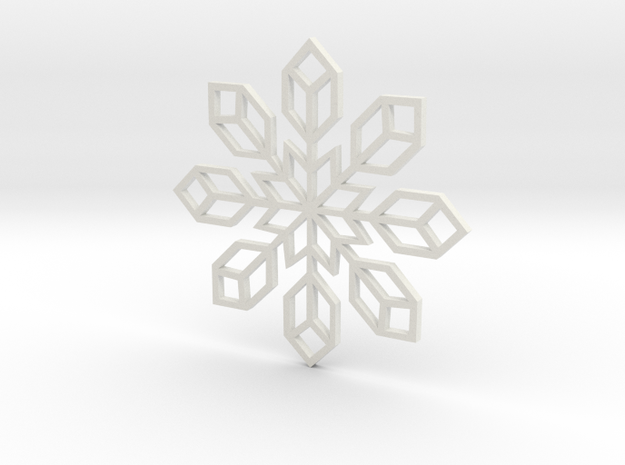 Snowflake 2 in White Strong & Flexible