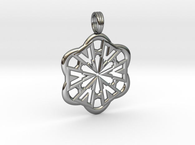 FLOWER POWER in Fine Detail Polished Silver