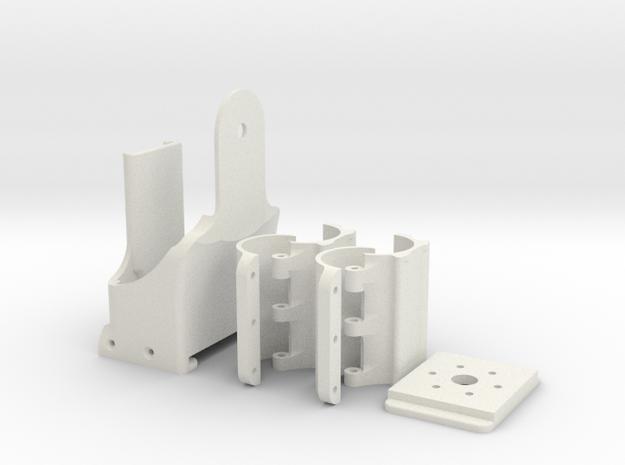 12v Battery holder for VR Cameras in White Natural Versatile Plastic