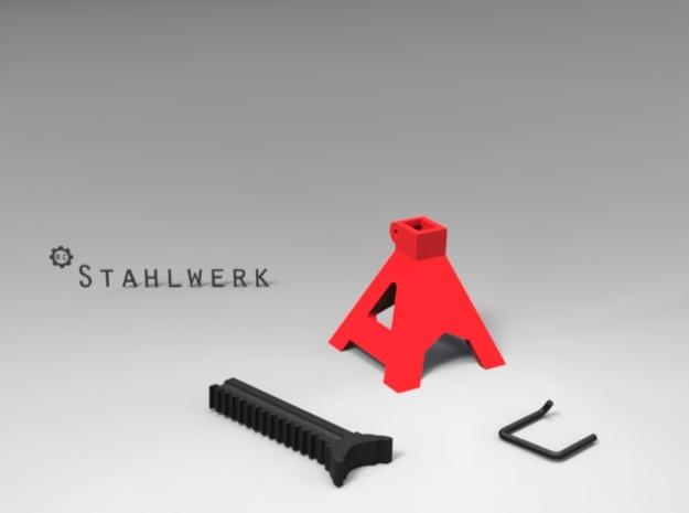 1/10 Scale Jack Stands Part B in Black Strong & Flexible