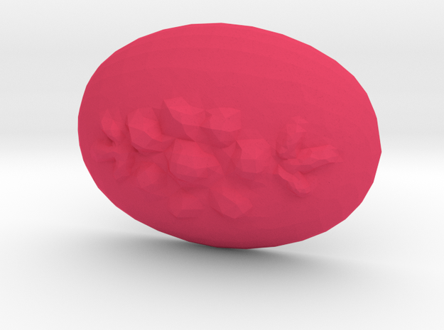 18x13 Oval Flower Cabochon Plastic Insert in Pink Processed Versatile Plastic