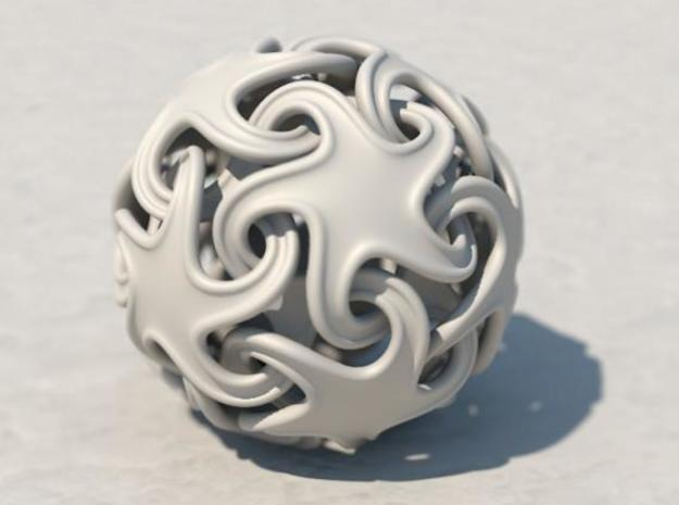 Ridged linking stars 3d printed Cinema 4D render