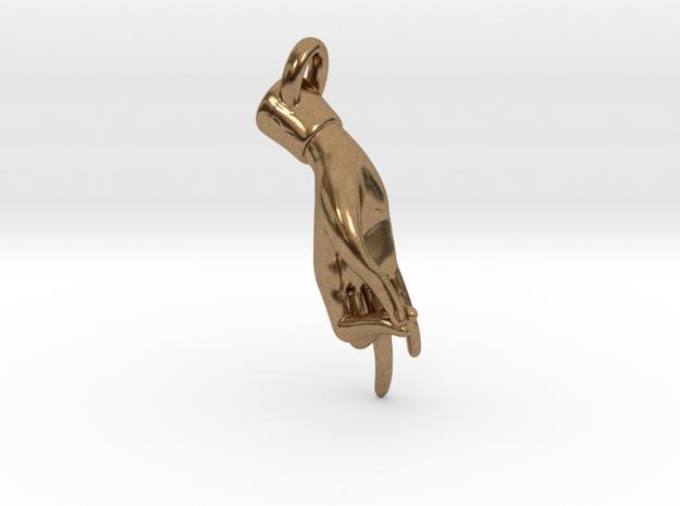 Hamsasyam Mudra Pendant/ Charm (Closed ) 2.5cm in Natural Brass