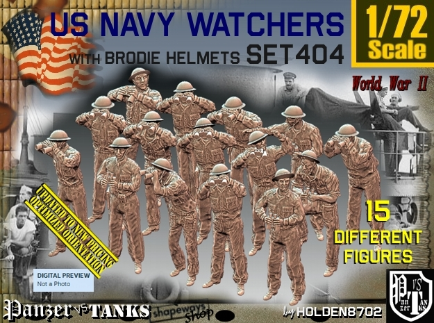 1/72 USN Watchers Set404 in Frosted Ultra Detail