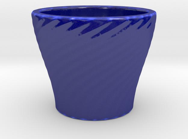 Espresso coffee cup 24 _ II in Gloss Cobalt Blue Porcelain
