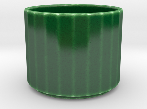 Espresso coffee cup 24 _ III in Gloss Oribe Green Porcelain