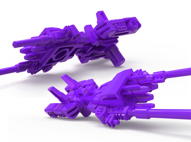 SixShot in Weapon Mode 5mm Weapon (3.5 inch) in Purple Processed Versatile Plastic