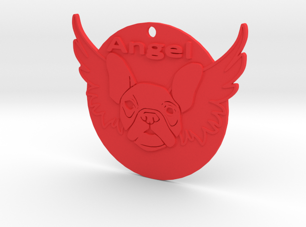 Bulldog angel in Red Processed Versatile Plastic