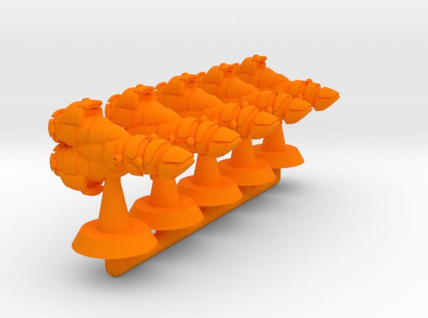 Vestale Class Frigate - 1:20000 in Orange Processed Versatile Plastic