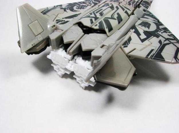 ROTF voyager Starscream poseable hands 3d printed White Strong Flexible sample.