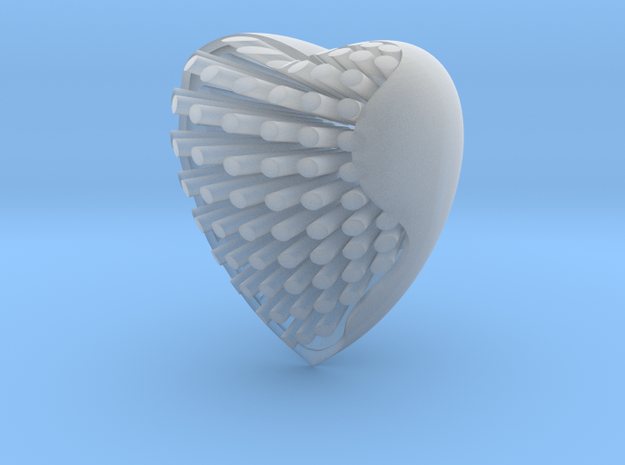 Heart in Smoothest Fine Detail Plastic