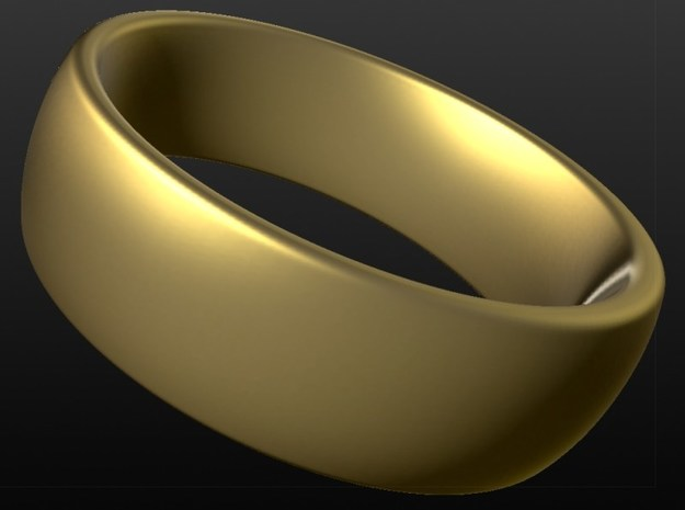 Wedding ring for male 19mm in 18k Gold Plated