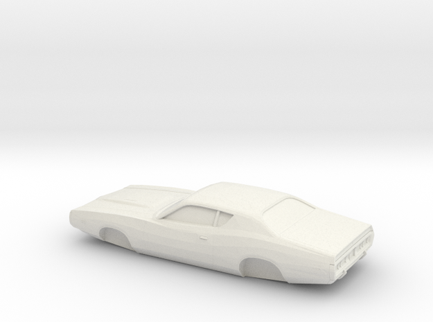 1/32 1971-74 Dodge Charger in White Natural Versatile Plastic
