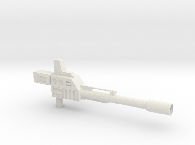 Onslaught Gun for KO OS Warbotron/Bruticus  in White Strong & Flexible