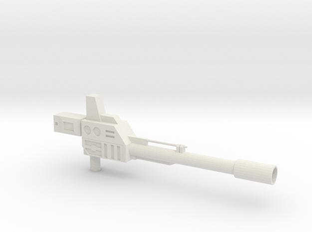 Onslaught Gun for KO OS Warbotron/Bruticus  in White Natural Versatile Plastic