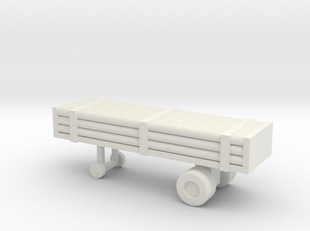 1/110 Scale Nitrogen Tank Trailer in White Natural Versatile Plastic