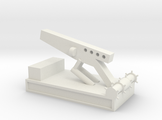 1/144 Scale Nike Launch Pad in White Natural Versatile Plastic