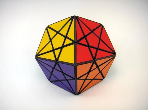 Twisted-8 Puzzle 3d printed Polar View
