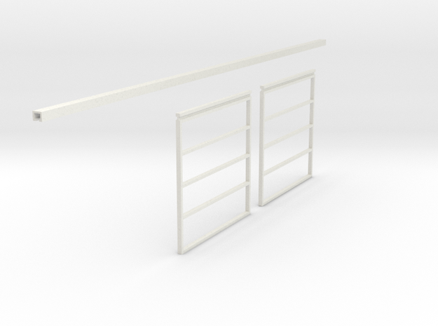 1/64 Sliding Machine Shed Door Frame 14' x 30' in White Strong & Flexible