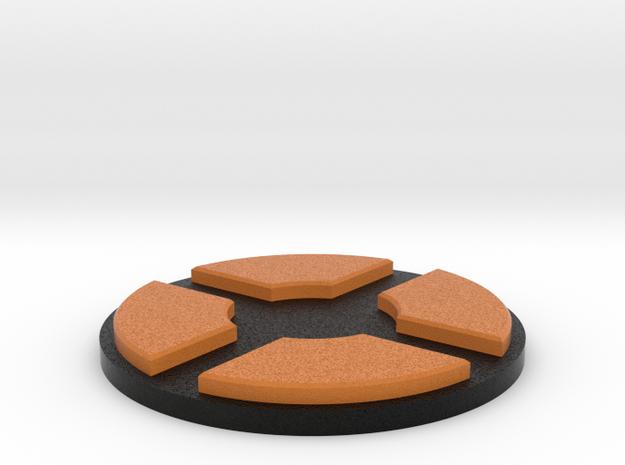 TF2 logo pedestal in Full Color Sandstone