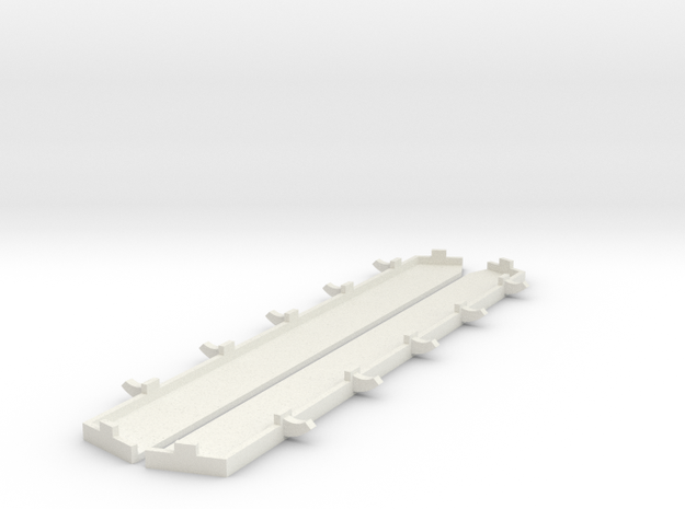 1/100 Heavy Track Covers in White Natural Versatile Plastic