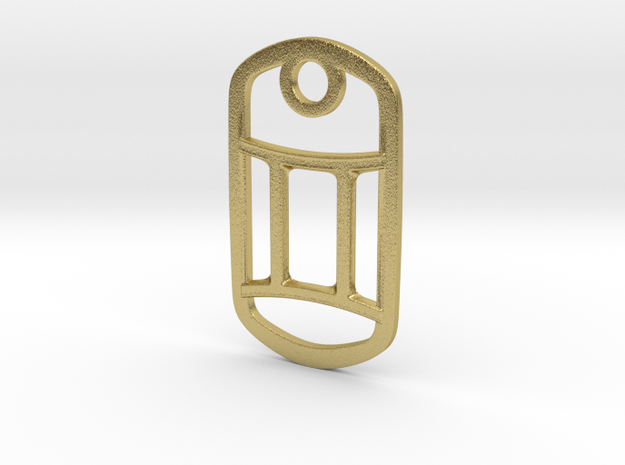 Gemini Pendant in Natural Brass
